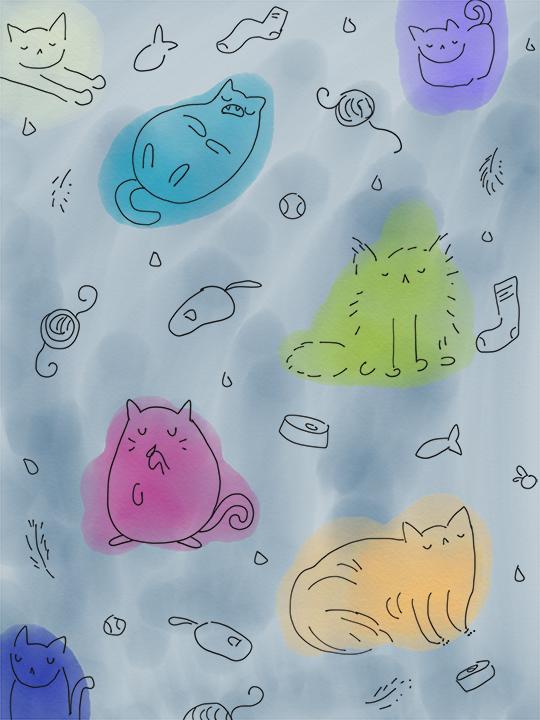 Modern Kittehs - Sketch 1